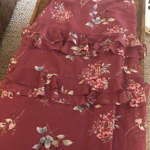 LC Lauren Conrad Floral Maxi Skirt